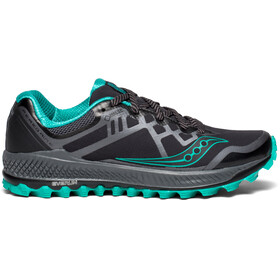 saucony Peregrine 8 GTX Shoes Women BLACK/GREY/BLUE